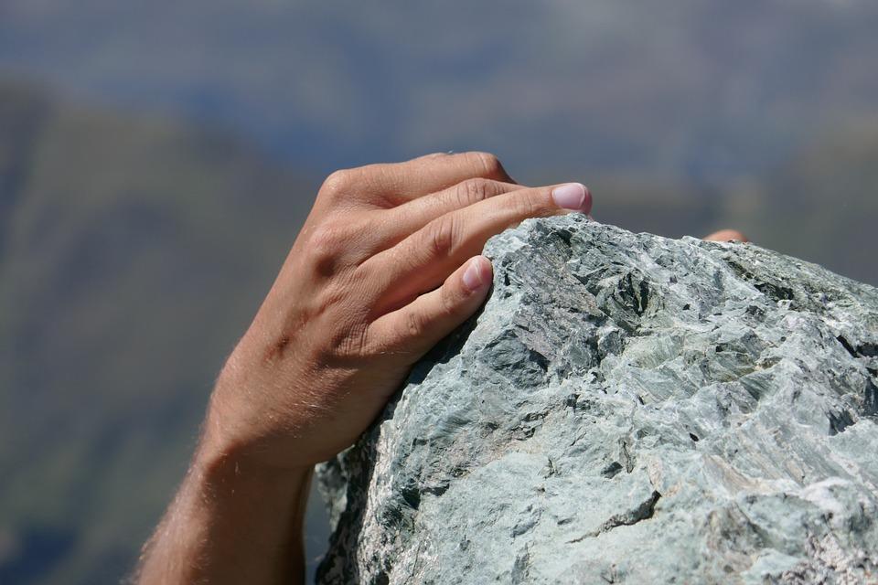 Nature, Rock, Stone, Rise, Mountain, Freedom, Sky, Man
