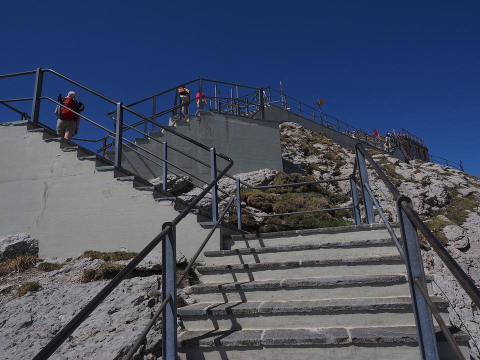 Stairs, Rise, Gradually, Staircase, Säntis