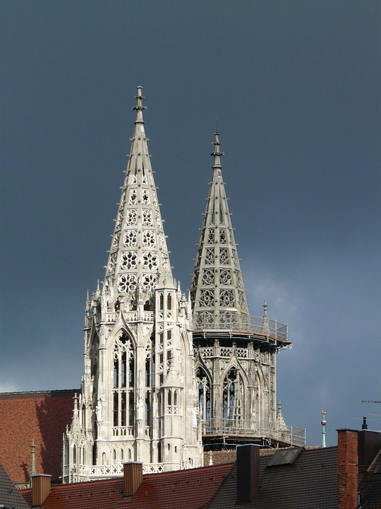 Tower, Münster, Dom, Thunderstorm, Clouds, Gloomy, Risk