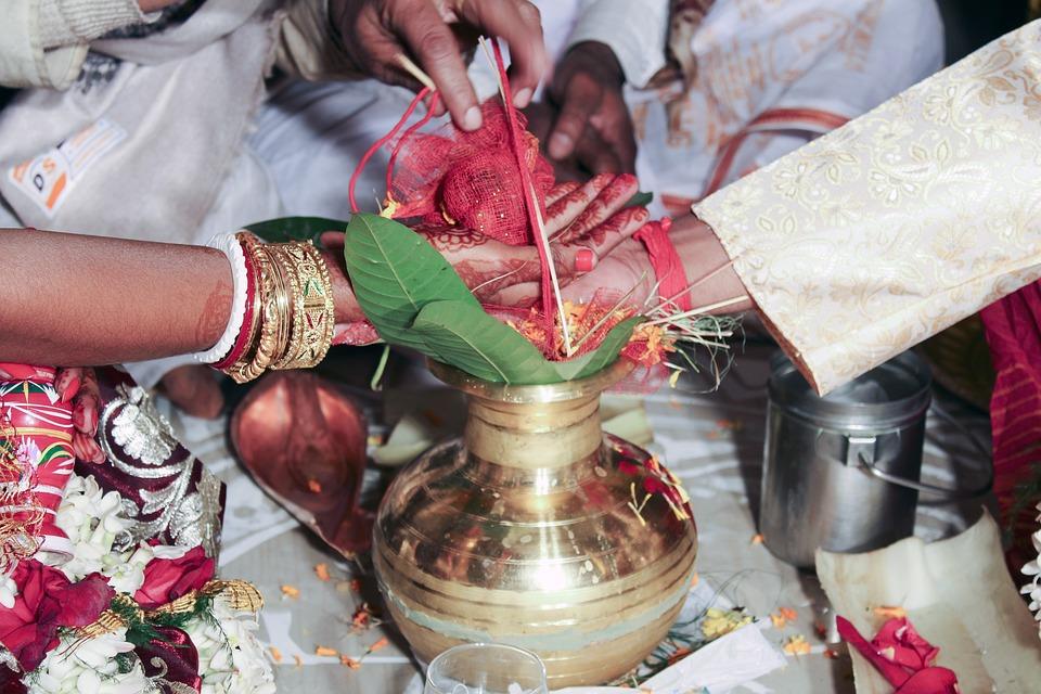 Indian, Rituals, During, Marriage, Arrangement, Wedding