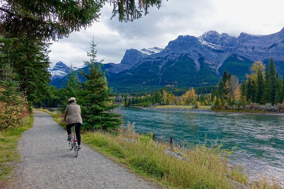 Rider, Rural, River, Adventure, Landscape, Mountain