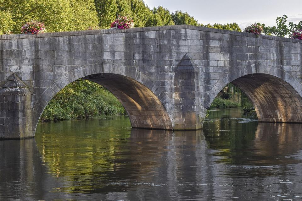 Architecture, Bridge, River, Water, Building, City