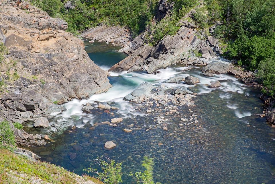 Sweden, Fjäll, Landscape, Nature, Water, River, Bach