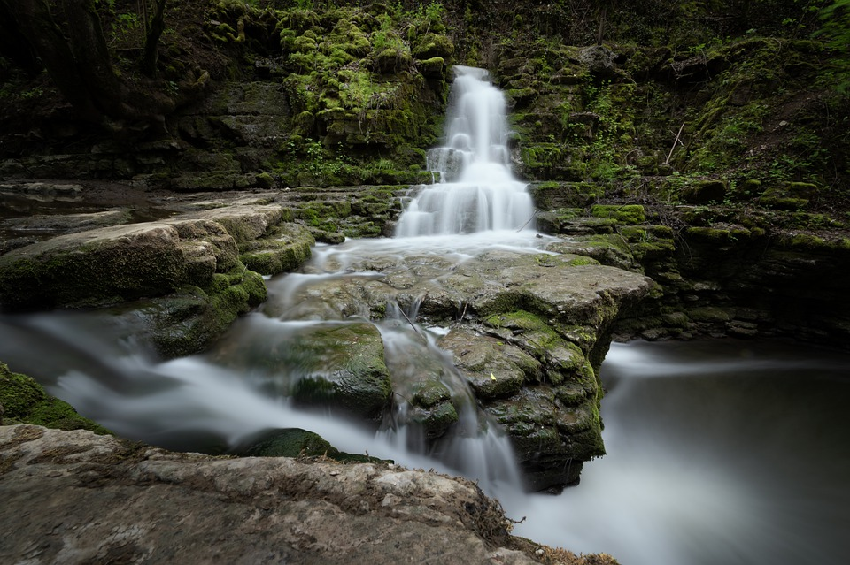 Waterfall, Water, River, Silent, Recovery, Nature, Bach