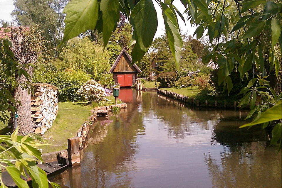 Spreewald, River, Boat House, Scale, Nature, Idyll
