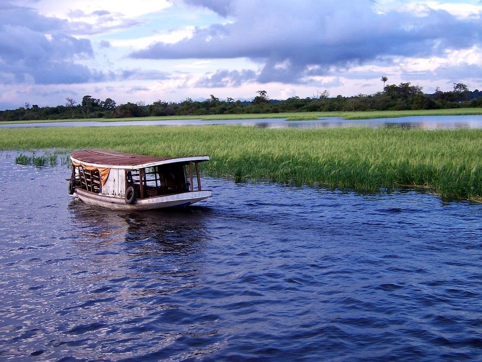 Amazon, Boat, Brazil, Water, River, Forest, Rainforest