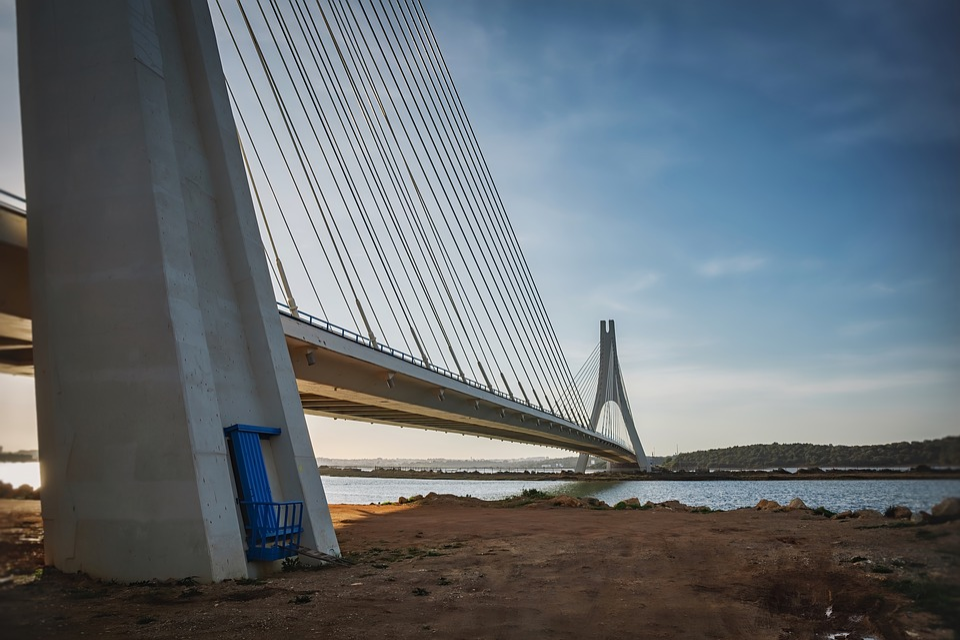 Bridge, Sunset, Architecture, Dusk, River, Water