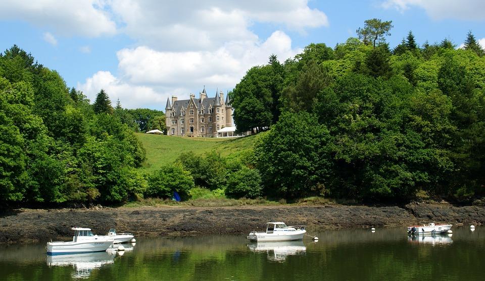 Brittany, Odet, Castle, Ballad, River