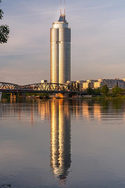 Millenium Tower, Building, River, Bridge