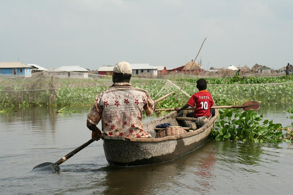 Waters, Fisherman, River, Boat, Benin, Helm, Canoeing