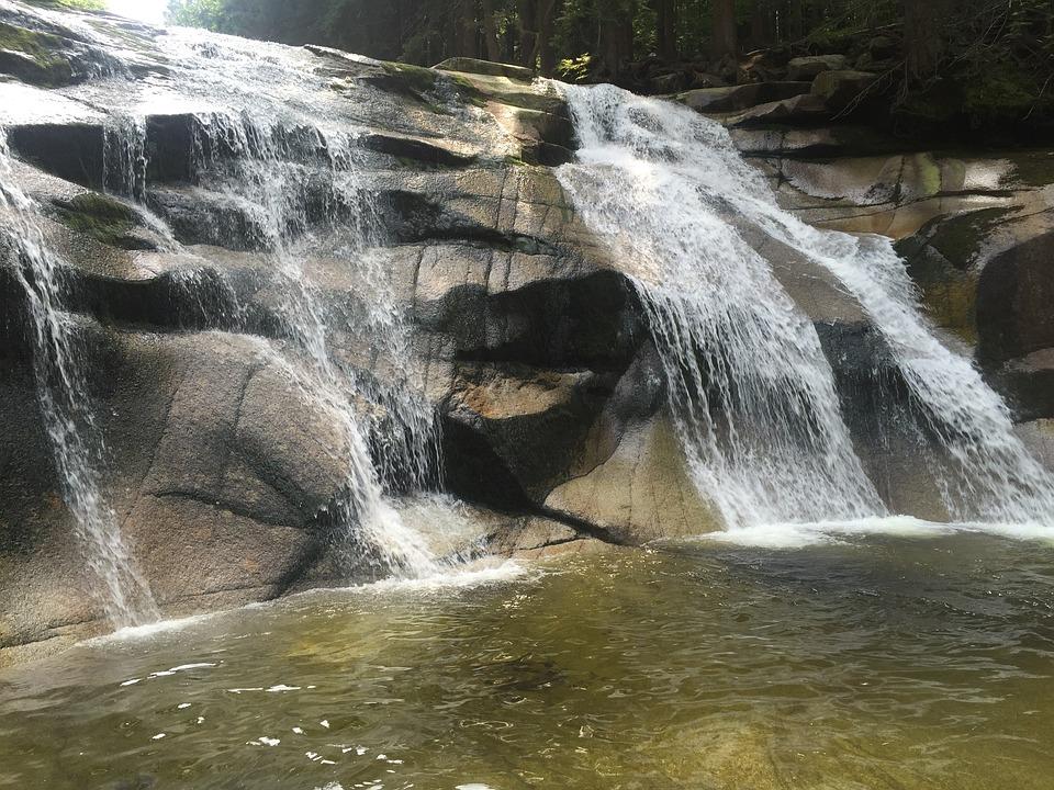 Waterfall, Mumlava Waterfalls, Water, River, Current