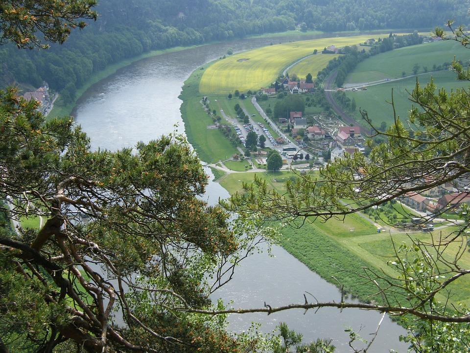 Elbe, Elbe Sandstone Mountains, Saxony, River