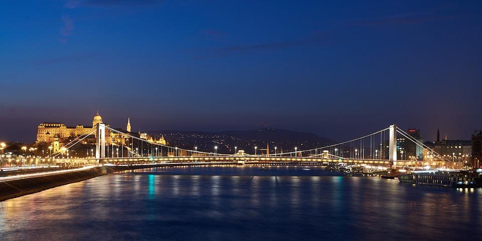 Budapest, Elisabeth Bridge, Danube, River