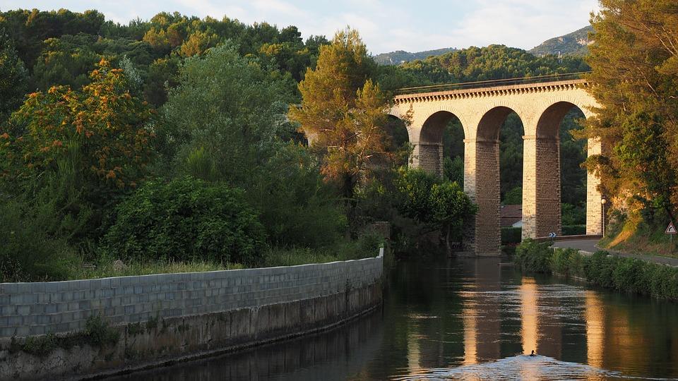 Viaduct, River, Sorgue, L'isle-sur-la-sorgue, Fontaine