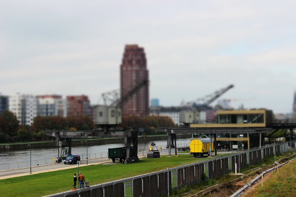 Frankfurt, Miniature, City, Mainplaza, River