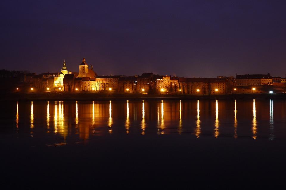 Landscape, River, Wisla, Grudziadz, Poland