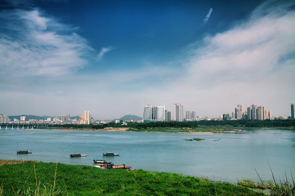 Jiang, River, Nanchong, Wetlands, Water