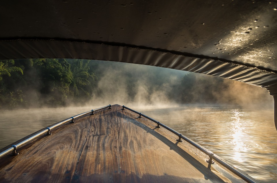 River Kwai, Thailand, Boat Trip, Fog, Morning, Jungle