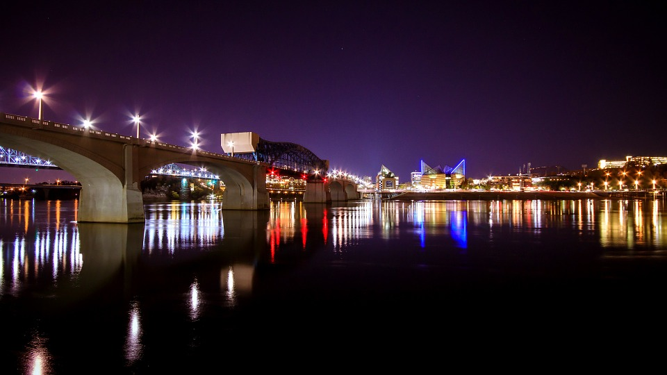 free photo river landscape bridge chattanooga cityscape city max pixel
