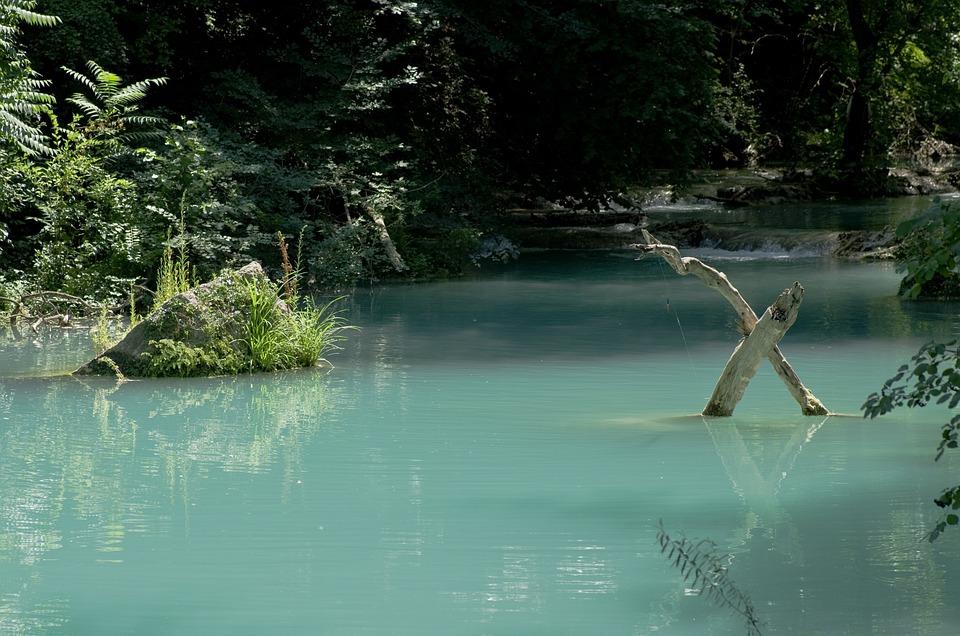 Colle Di Val D'elsa, River, Turquoise, Water, Landscape