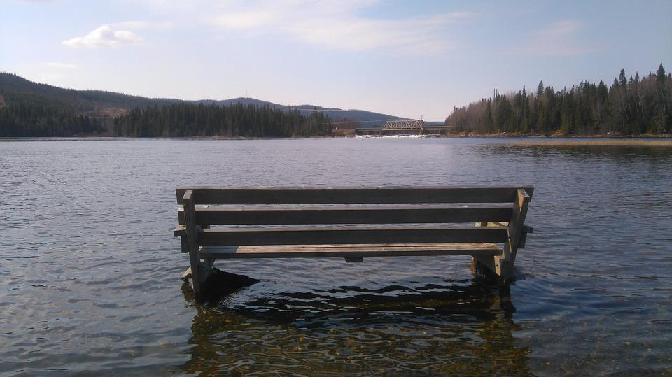 Seat, River, Bench, Landscape, Nature, Relax, Holiday