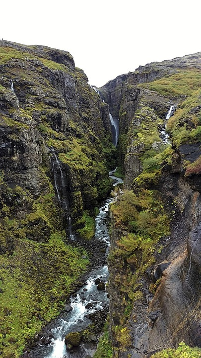 Iceland, Waterfall, Nature, Landscape, River, Water