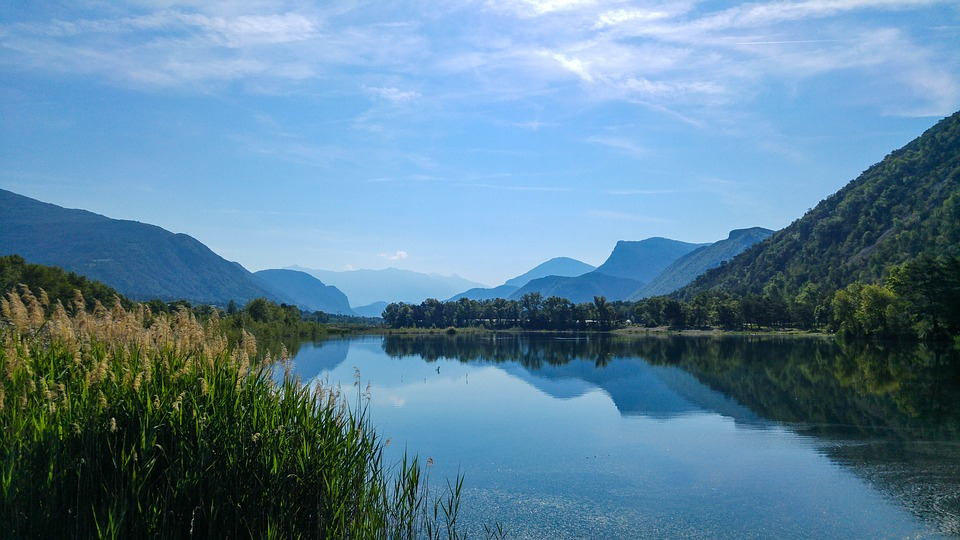 Lake, France, Water, Nature, Landscape, Sky, River