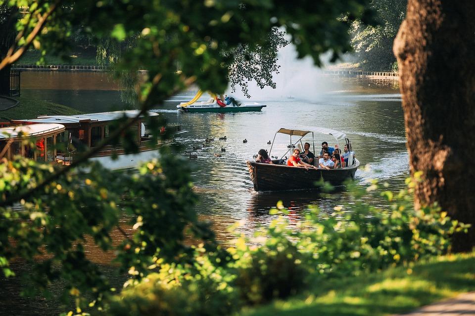 River, Boat, Bridge, Canal, Fall, Lake, Leisure