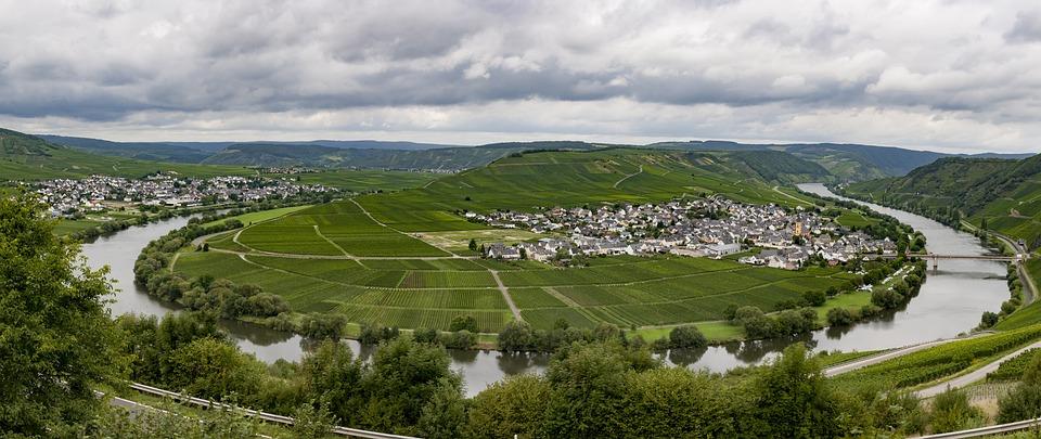 Mosel, Bend, Leiwen, Trittenheim, River, River Loop