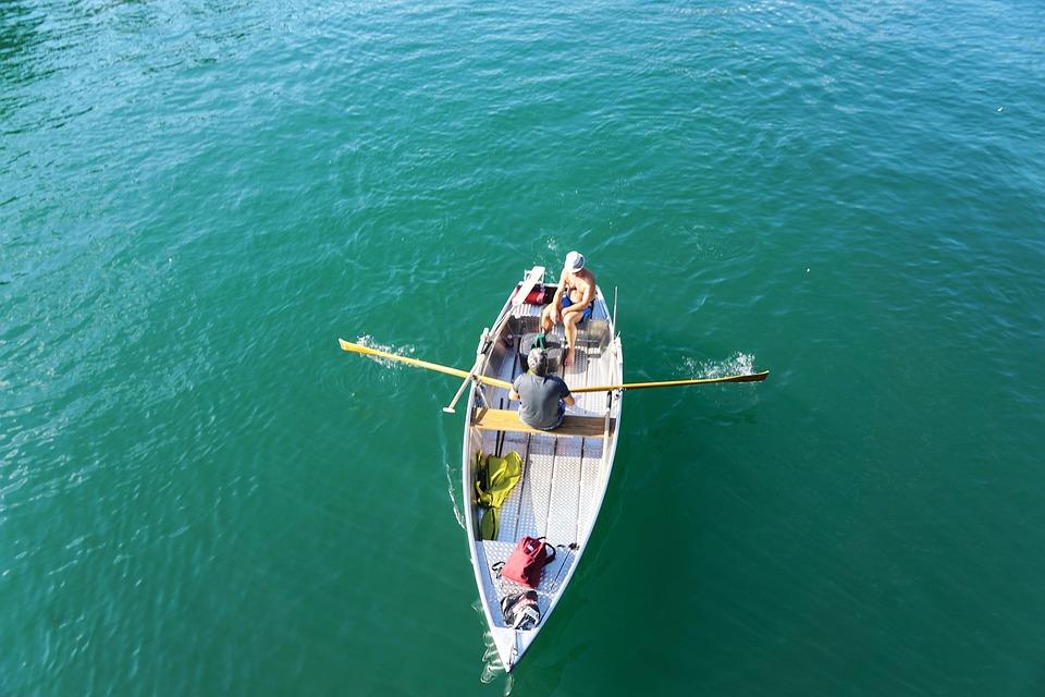 Boat, River, Human, Limmat, Water, Zurich, Switzerland
