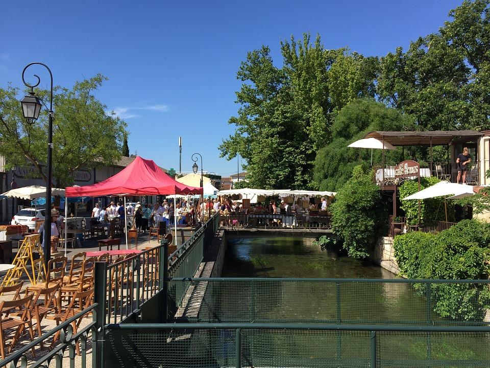Flea Market, Isle Sur La Sorgue, River, Little Venice