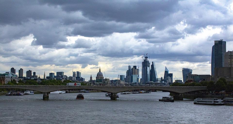 London, River, City, Bridge, England, Cityscape