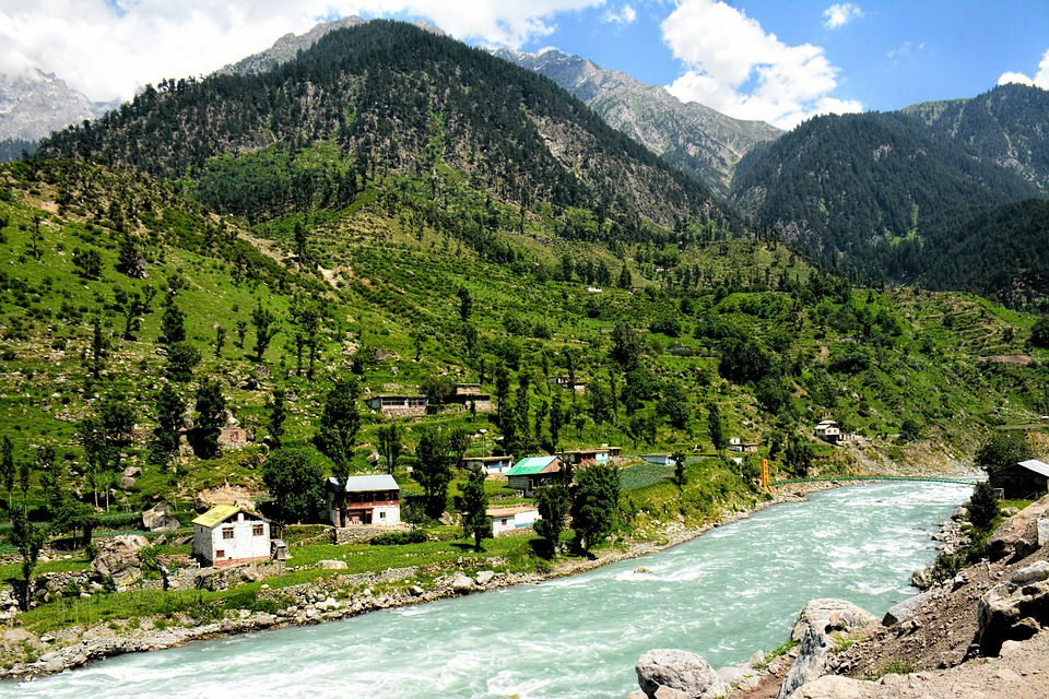 Mountains, River, Landscape, Travel, Nature, Green