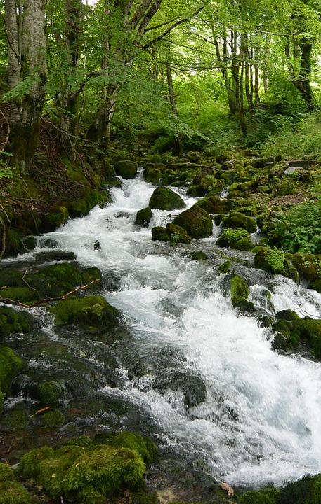 River, Summer, Mountains, Water, Spray, River Bank
