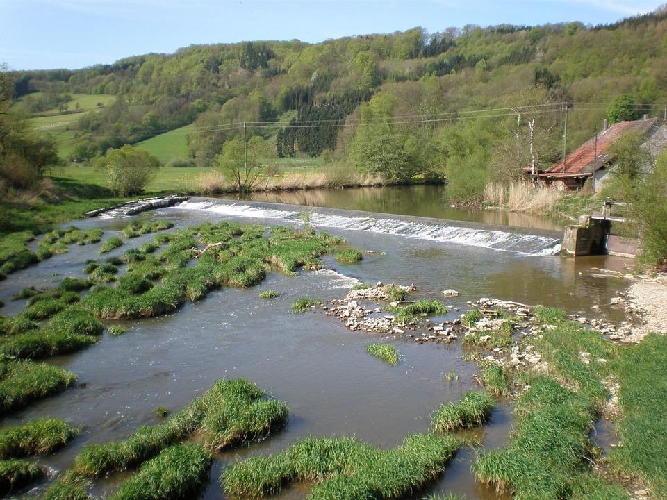 Jagst, River, Shore Area, Nature, Landscape