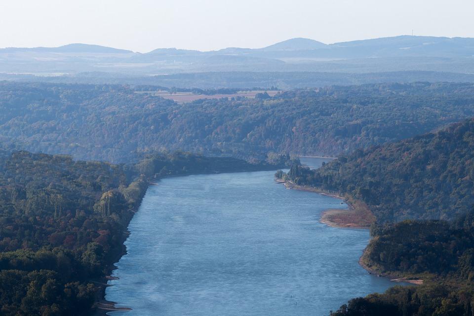 Rhine, Siebengebirge, River, Water, Nature, Bonn, Bank