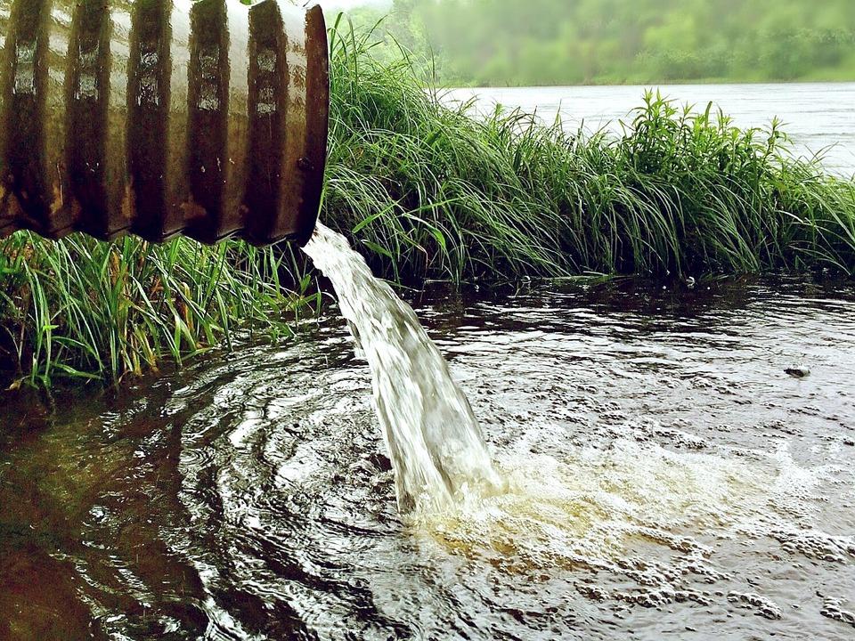 Water, Environment, Nature, Rainwater, River, Pipe