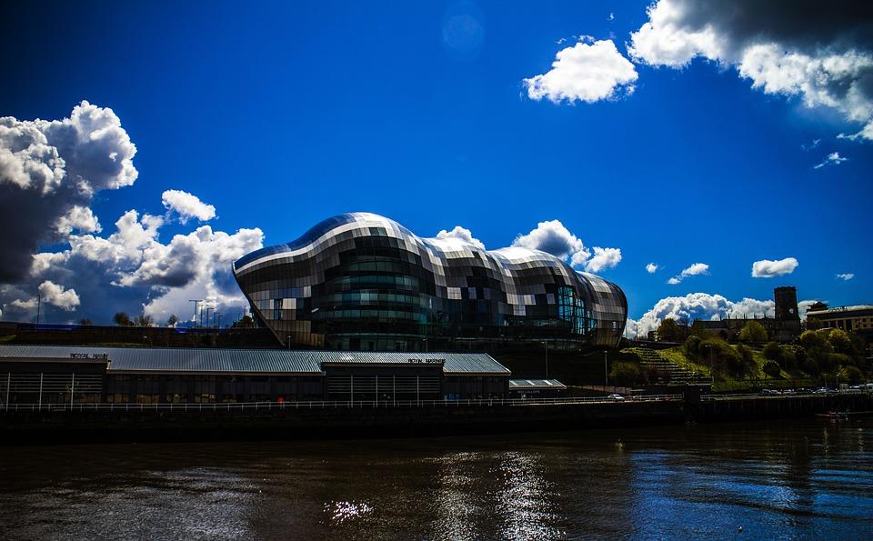 Newcastle, Uk, River, Architecture, Landscape, Bridge