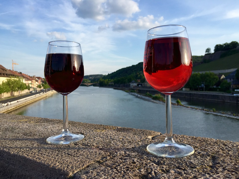 Red Wine, Wine, Glass, River, Glasses, Red, Mood