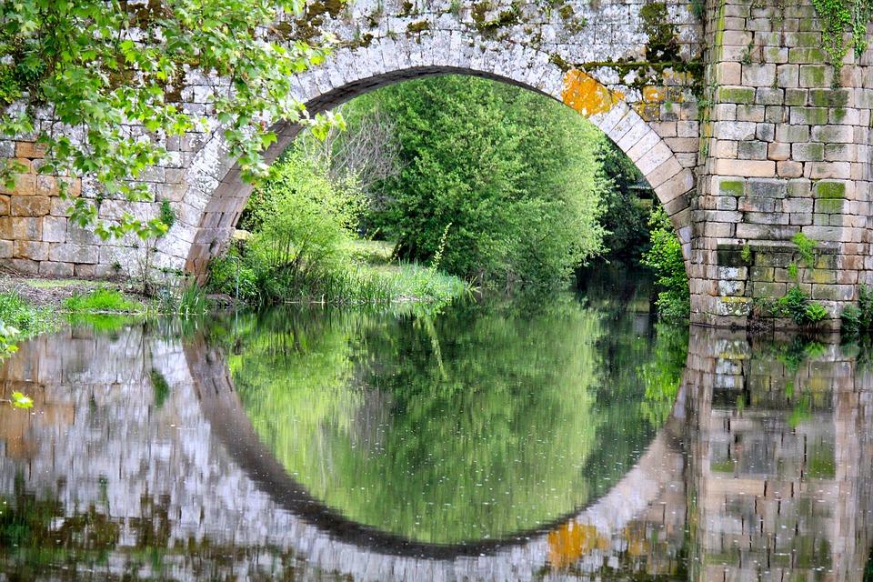 Bridge, River, Allariz, Architecture, Urban, Reflection