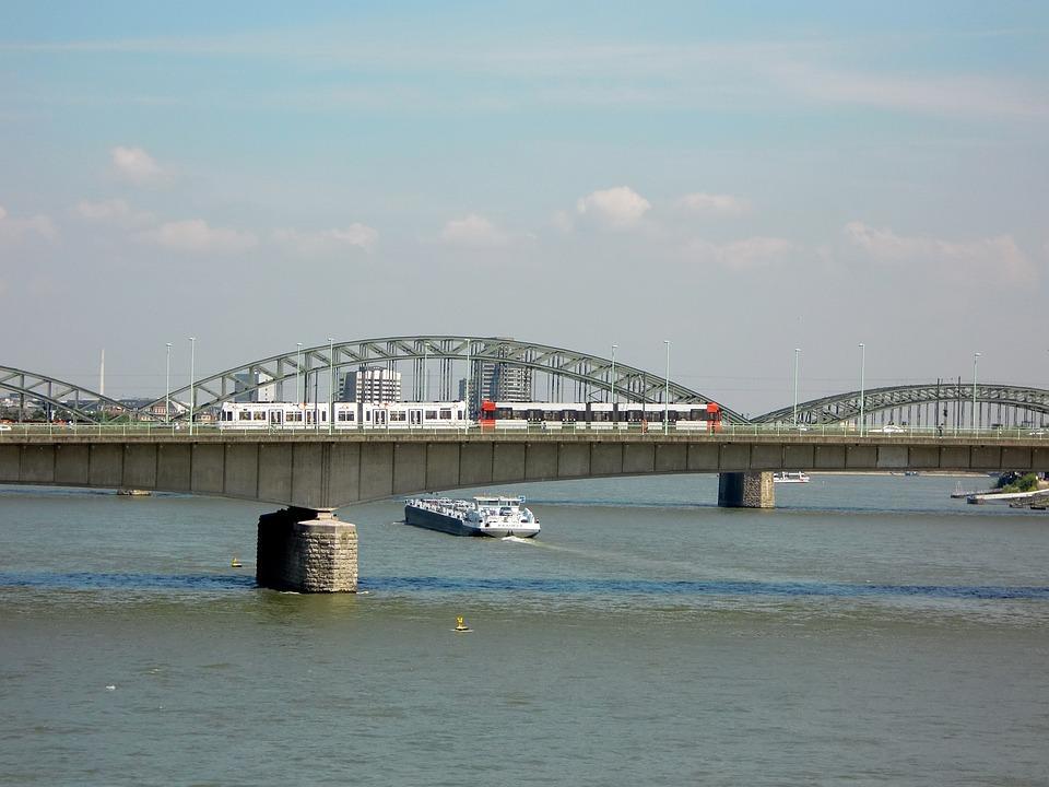 Cologne, Bridge, Rhine, Hohenzollern Bridge, River