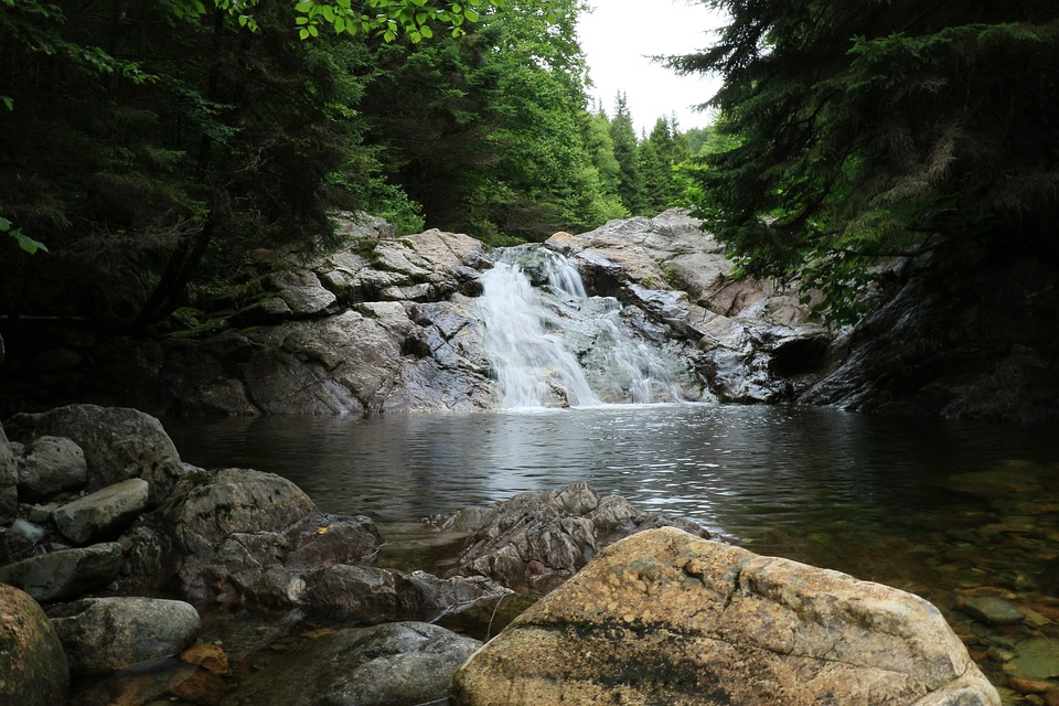 Water, Nature, Rock, River, Waterfall, Stream