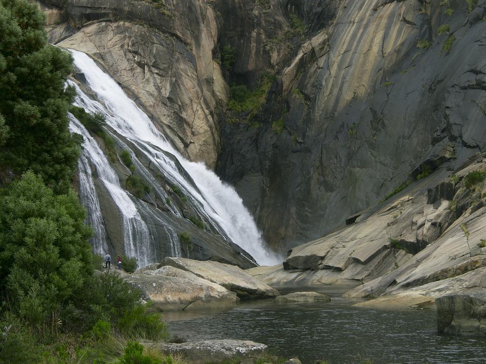 Waterfall, Rocks, River