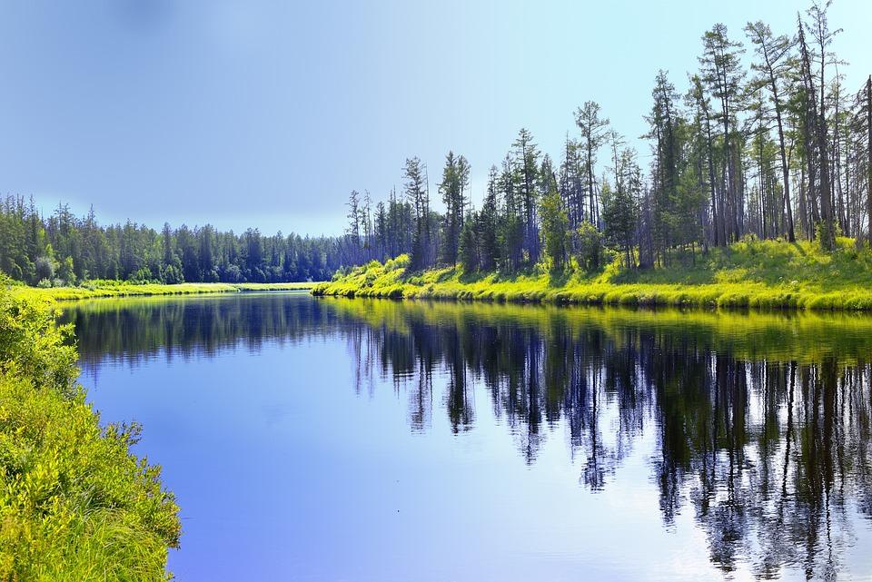 River, Peleduy, Yakutia, Saha, Siberia, Water