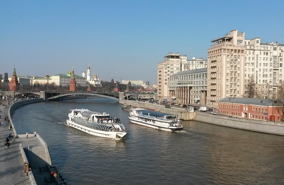 Moscow, Russia, River Ship, The Moscow River
