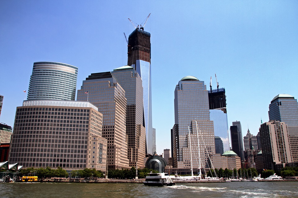 New York City, Skyline, Cities, Urban, River, Water