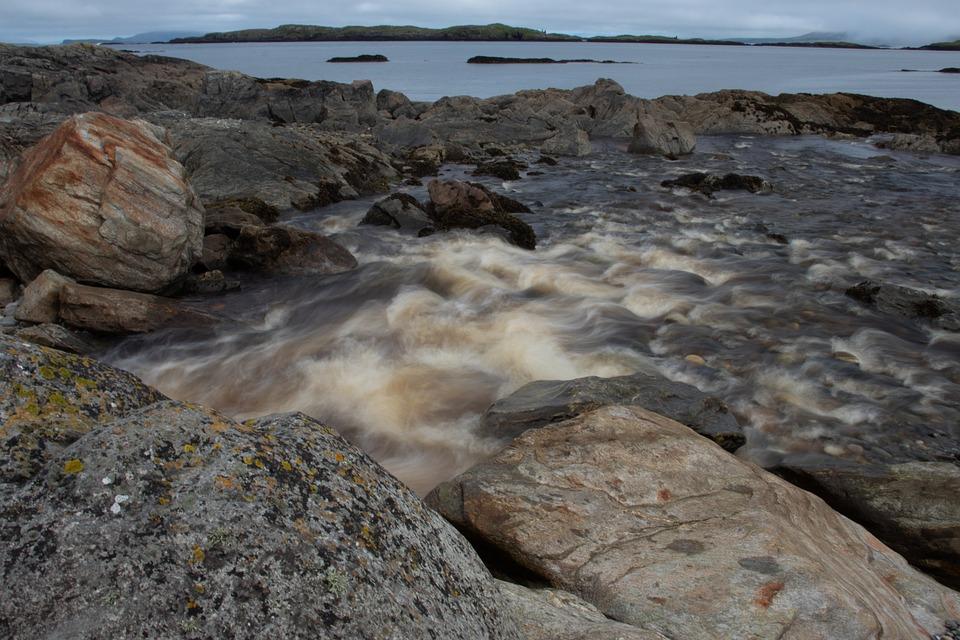 River, Rapids, Sea, Beach, Rocks, Stones, Ocean Pool