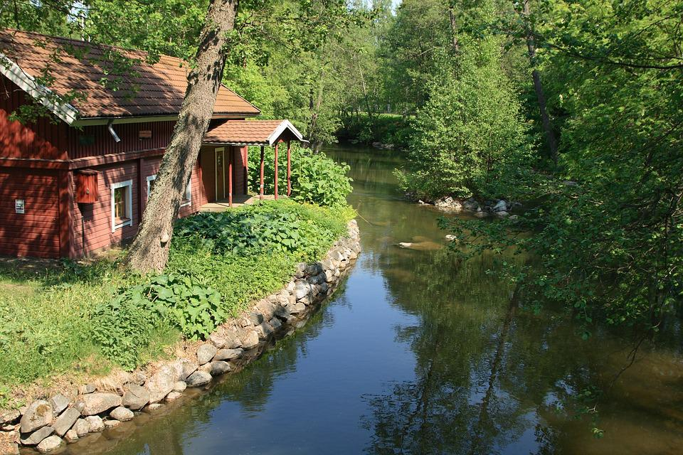 House On A River, Summer, House, River, Brown House