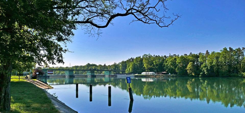 Landscape, Switzerland, River, Aare, Power Plant, Bank