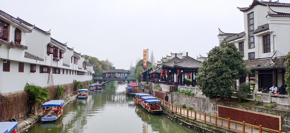 China, River, The Ancient Town, Clear Water, Asia